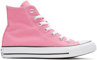 Converse Pink Classic Chuck Taylor All Star OX High-Top Sneakers $55 thestylecure.com
