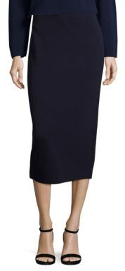 Eileen Fisher Silk & Organic Cotton Interlock Pencil Skirt $218 thestylecure.com