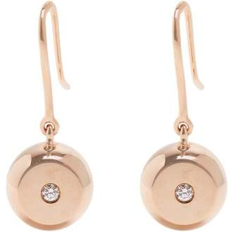 Aurelie Bidermann Fine Jewellery Fine Jewellery - Bell Diamond & Rose Gold Earrings - Womens - Rose Gold