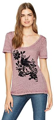 Lucky Brand Women's Flocked Bird Tee