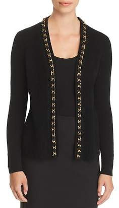 Bloomingdale's C by Chain-Trim Cashmere Cardigan - 100% Exclusive