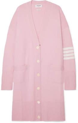 Thom Browne Oversized Striped Merino Wool Cardigan - Baby pink