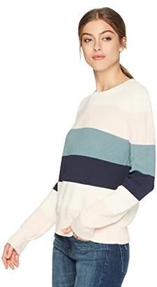 Cable Stitch Women's Colorblock Striped Sweater
