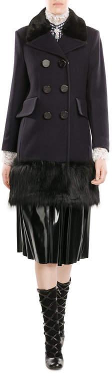 Marc JacobsMarc Jacobs Virgin Wool Coat with Faux Fur