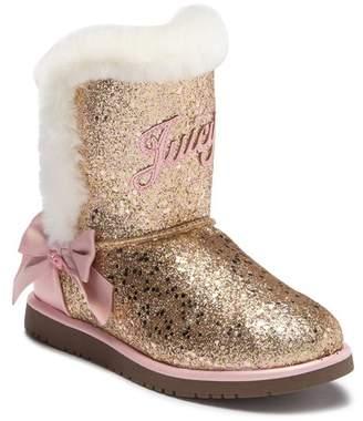 Juicy Couture Windsor Glitter Faux Fur Boot (Little Kid & Big Kid)
