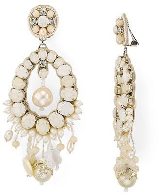 Ranjana Khan Petal Clip-On Drop Earrings $425 thestylecure.com