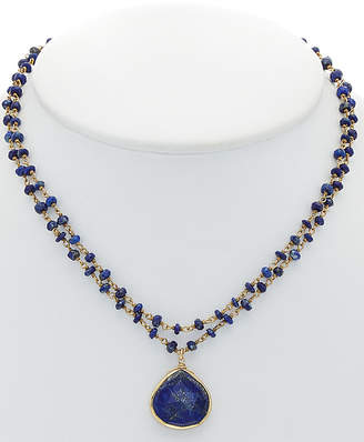 Rachel Reinhardt 14K Over Silver Blue Lapis Necklace