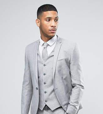 Noak Wedding Skinny Suit Jacket In Linen Nepp