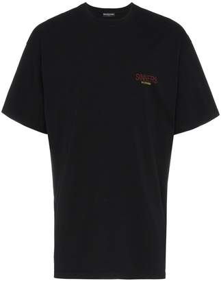 Balenciaga sinners oversize t-shirt