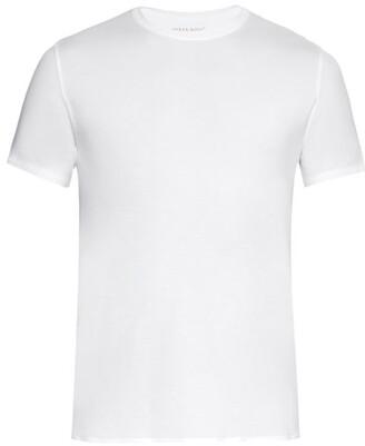 Derek Rose Basel Short Sleeved Jersey T Shirt - Mens - White