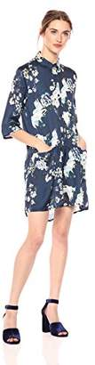 Daisy Drive Women's Nostalgic Blouse-Dress with Mille Fleurs Floral Print