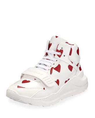 Burberry Regis Heart High-Top Sneakers