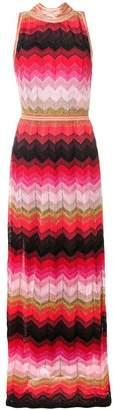Missoni chevron stripe knit dress