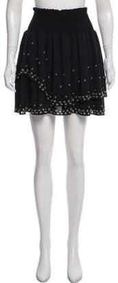 The Kooples Eyelet Mini Skirt
