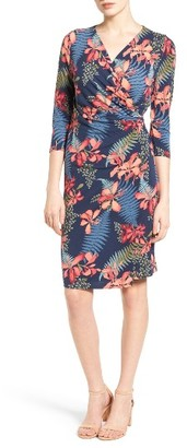 Women's Tommy Bahama Sacred Groves Faux Wrap Dress $148 thestylecure.com