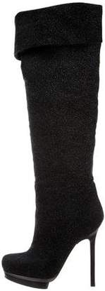 Diego Dolcini Crystal Suede Over-The-Knee Boots