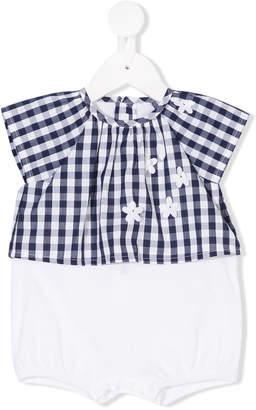 Il Gufo checked T-shirt and shorts set
