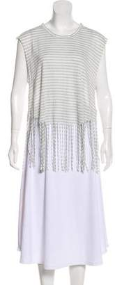 Rebecca Minkoff Sleeveless Fringe-Accented T-Shirt