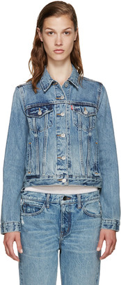 Levi's Blue Denim Authentic Trucker Jacket $100 thestylecure.com