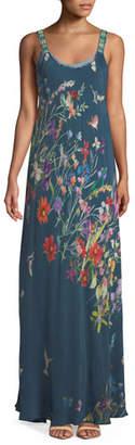 Johnny Was Plus Size Linsu Floral-Print Maxi Tank Dress