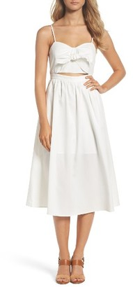 Women's Bardot Tie Front Midi Dress $109 thestylecure.com
