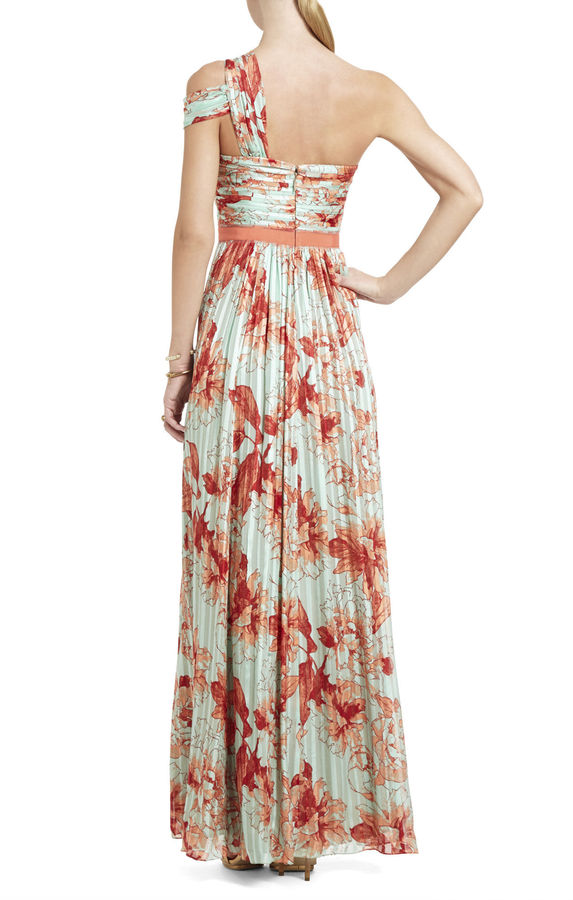 BCBGMAXAZRIA Inga Silk One-Shoulder Dress