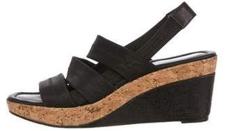 Donald J Pliner Canvas Wedge Sandals