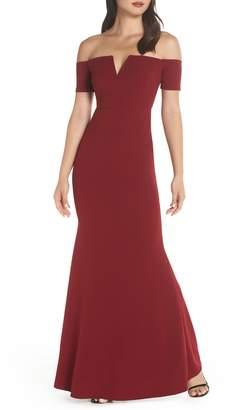 LuLu*s Lynne Off the Shoulder Gown