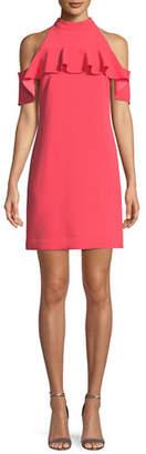 Trina Turk Laelia Ruffle Cold-Shoulder Mini Dress