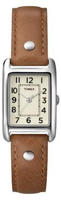 Timex Women's Timex Watch with Leather Strap - Silver/Brown T2N905JT $39.99 thestylecure.com