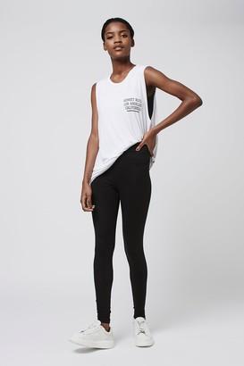 Topshop Womens High Waisted Ankle Leggings - Black