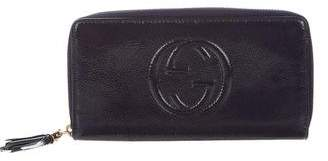 Gucci Patent Leather Soho Zip-Around Wallet