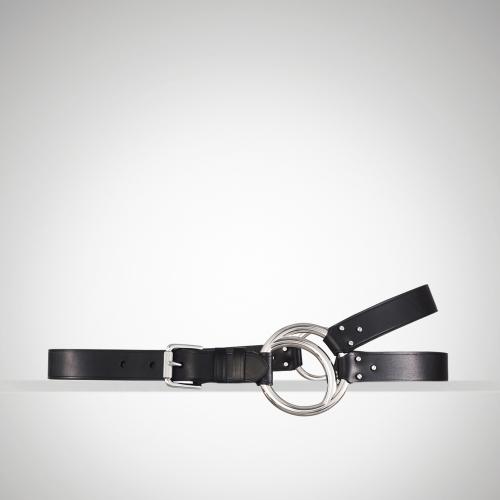 Ralph Lauren Vachetta O-Ring Tri-Strap Belt