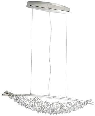 Swarovski 30x6.5 2-Light Pendant in Stainless Steel