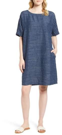 Stripe Linen Tunic Dress
