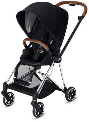 Cybex Mios One Box Stroller with Brown/Chrome Frame, Premium Black