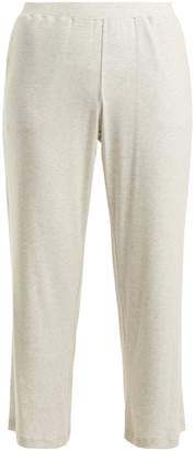 SKIN Noelle ribbed-jersey cropped trousers
