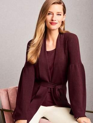 Talbots Merino Kimono-Sleeve Cardigan