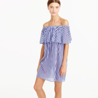 Off-the-shoulder bold striped dress $69.50 thestylecure.com