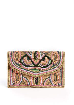 Ricki Designs Foldover Beaded Clutch