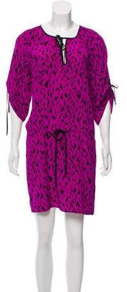 Yumi Kim Silk Abstract Mini Dress