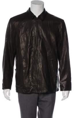 Ralph Lauren Purple Label Lambskin Zip Jacket
