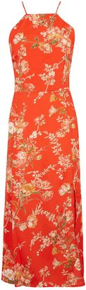 Topshop Eastern Floral Midi Slip Dress