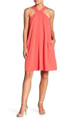 Crimson in Grace Pocket A-Line Shift Dress