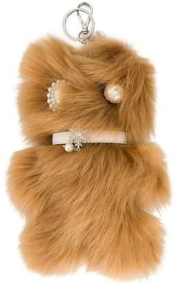 Miu Miu faux fur bag charm