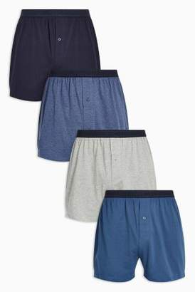 Next Mens Blue Loose Fit Four Pack