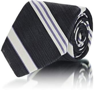 Mens Large Rayé Cravate Soie Faille Fairfax CHhtI7