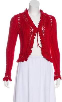 Chanel Knit Tie-Front Cardigan