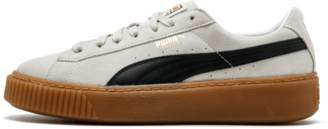 Puma Suede Platform Core Whisper White Black