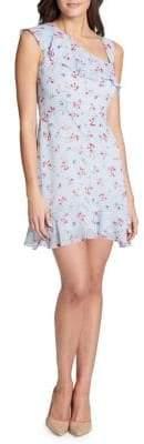 Kensie Dresses Asymmetrical Ruffle Fit-&-Flare Dress